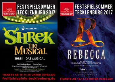 SHREK und REBECCA 2017 open air in Tecklenburg